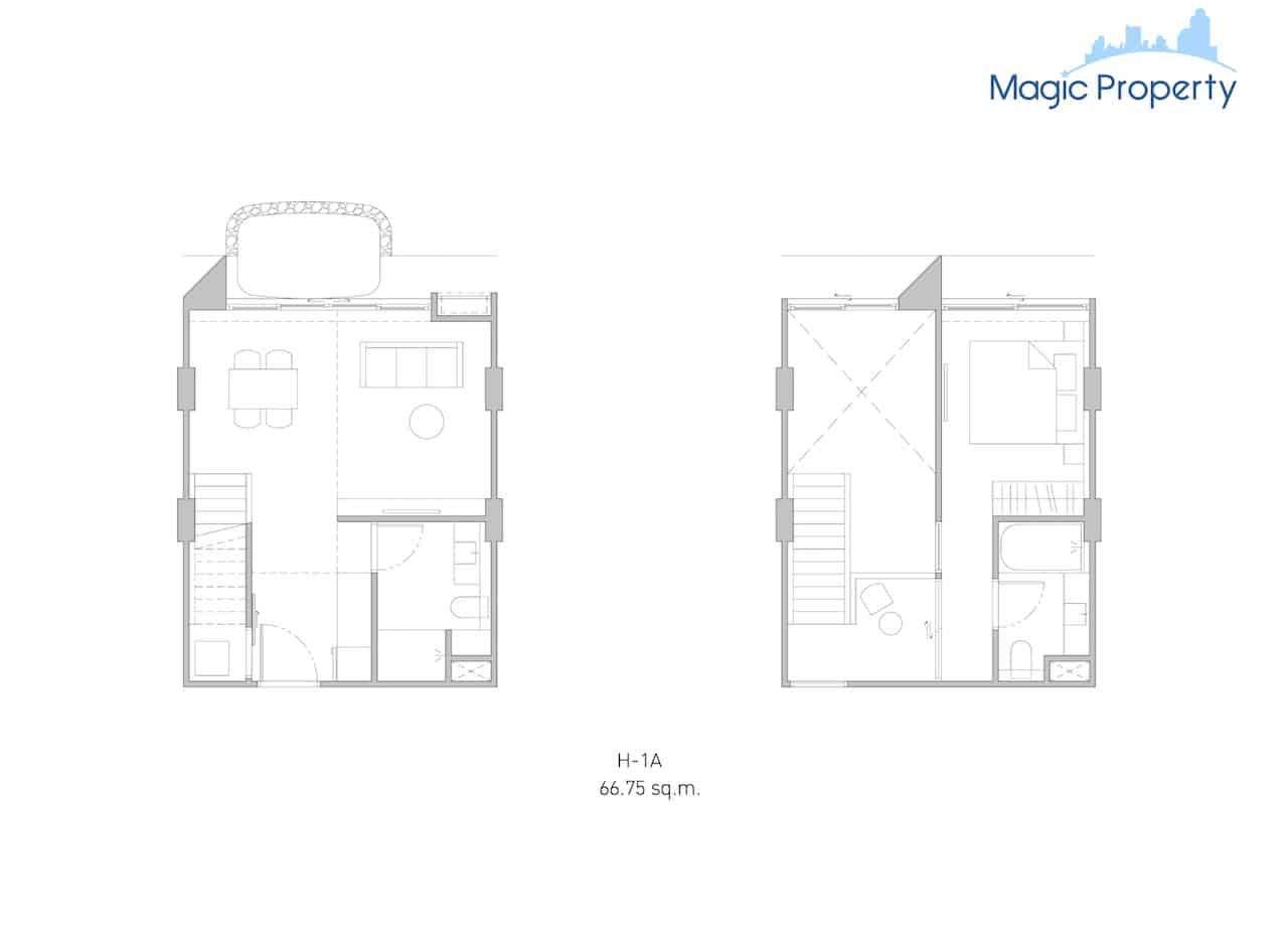 Duplex( H-1A- Size-66.75-sqm.)