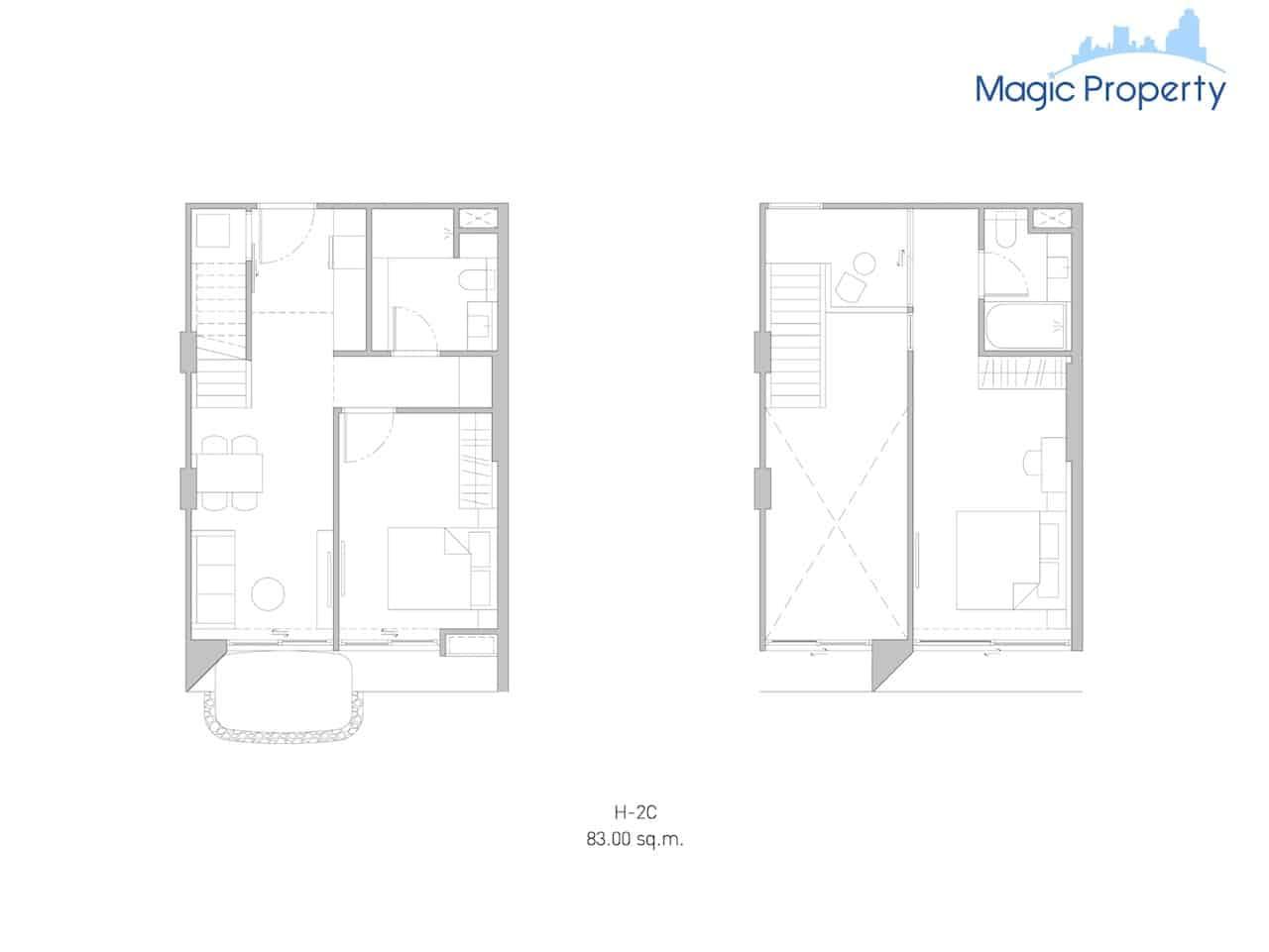 Duplex(H-2c-2-Size-83-Sqm.)