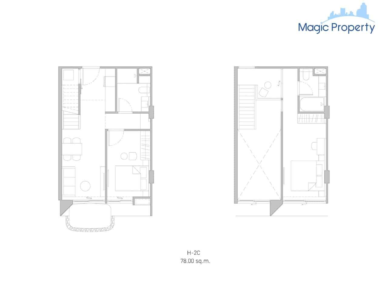 Duplex( H-2c-Size-78-sqm.)